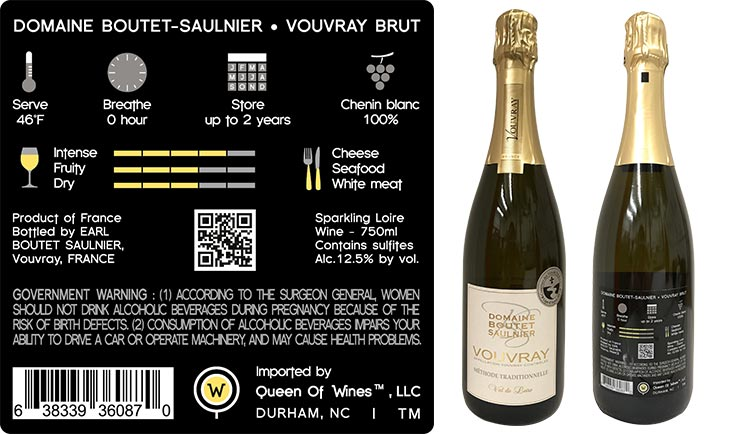 Domaine <br/>Boutet-Saulnier <br/>Vouvray Brut